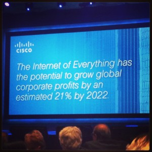 The Internet of Everything has the potential to grow global corporate profits by an estimated by 21% by 2022.